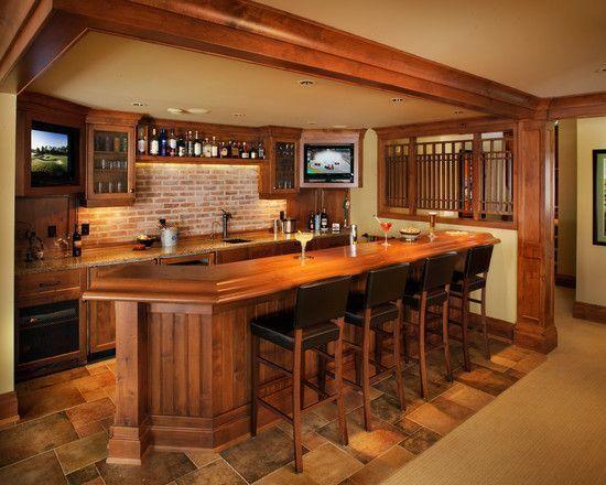 Beautiful Small Basement Bar Plans