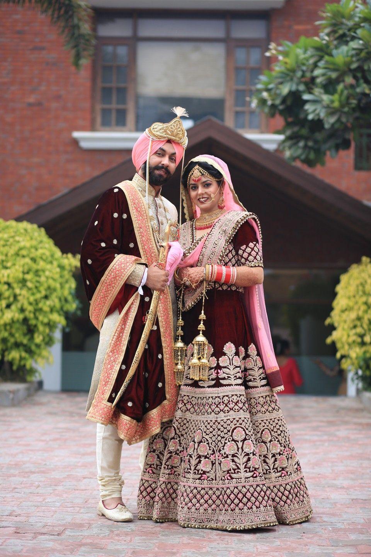 c996faa7c6 #sikh wedding #sikh bride and groom #maharaj maharani style wedding dress  #chandigarh wedding #patiala wedding