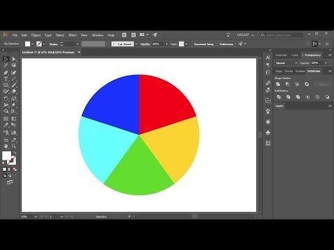 1) How to Divide a Circle into Equal Parts in Adobe Illustrator CC