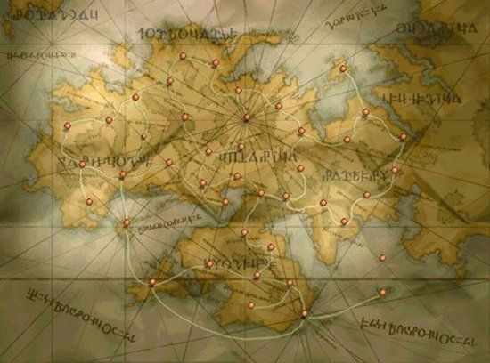 World Map from the Final Fantasy Tactics video game