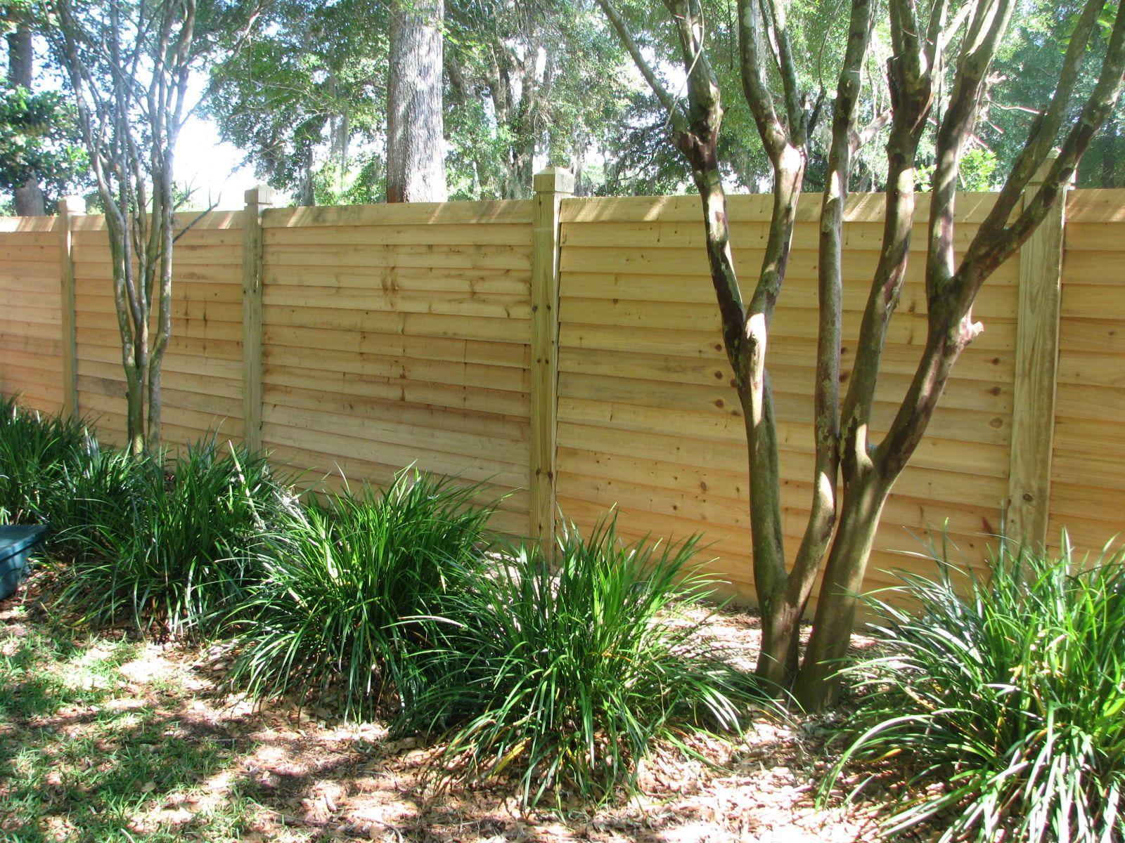 Custom Horizontal Wood Fence By Mossy Oak Fence Company