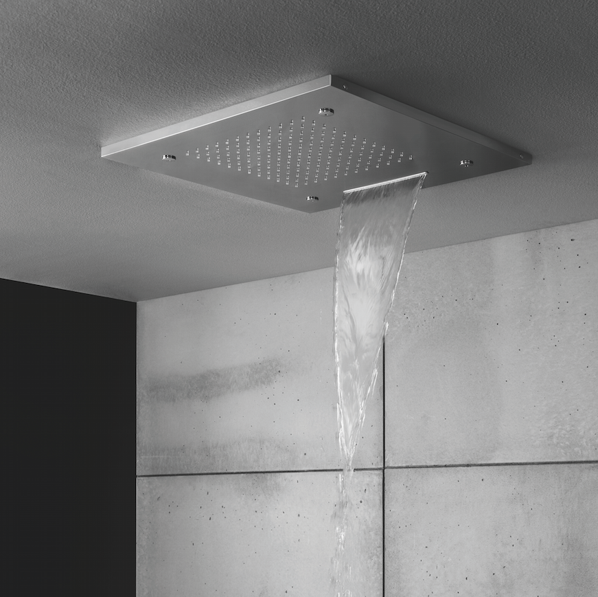 Contemporary Showers contemporary shower heads - square multifunction recessed 500mm