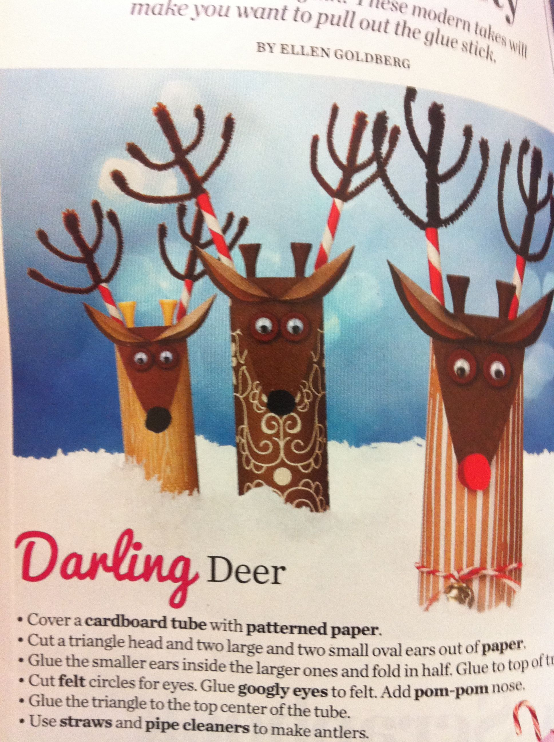 Deer craft using t p roll and other recyclable materials