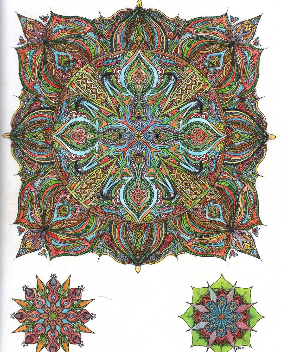 This is page 13, mandala 10 of #thesecretmandala by ...