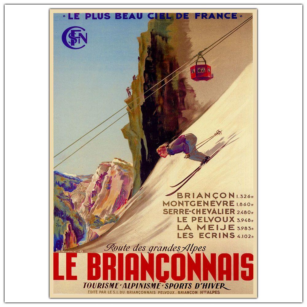 Le Brianconnais Vintage Advertisement on Wrapped Canvas