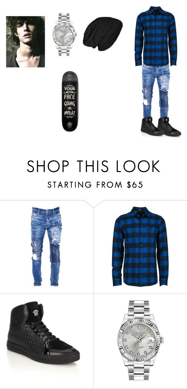 """""""Blake ( son of heydes )"""" by septicplier-mangle ❤ liked on Polyvore featuring Dsquared2, Volcom, Versace, Rolex, men's fashion and menswear"""