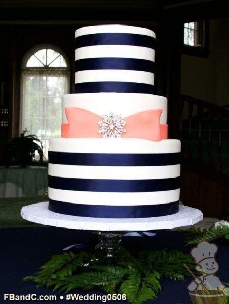 Mariage Bleu Marine Et Corail Le Wedding Cake Gâteau De