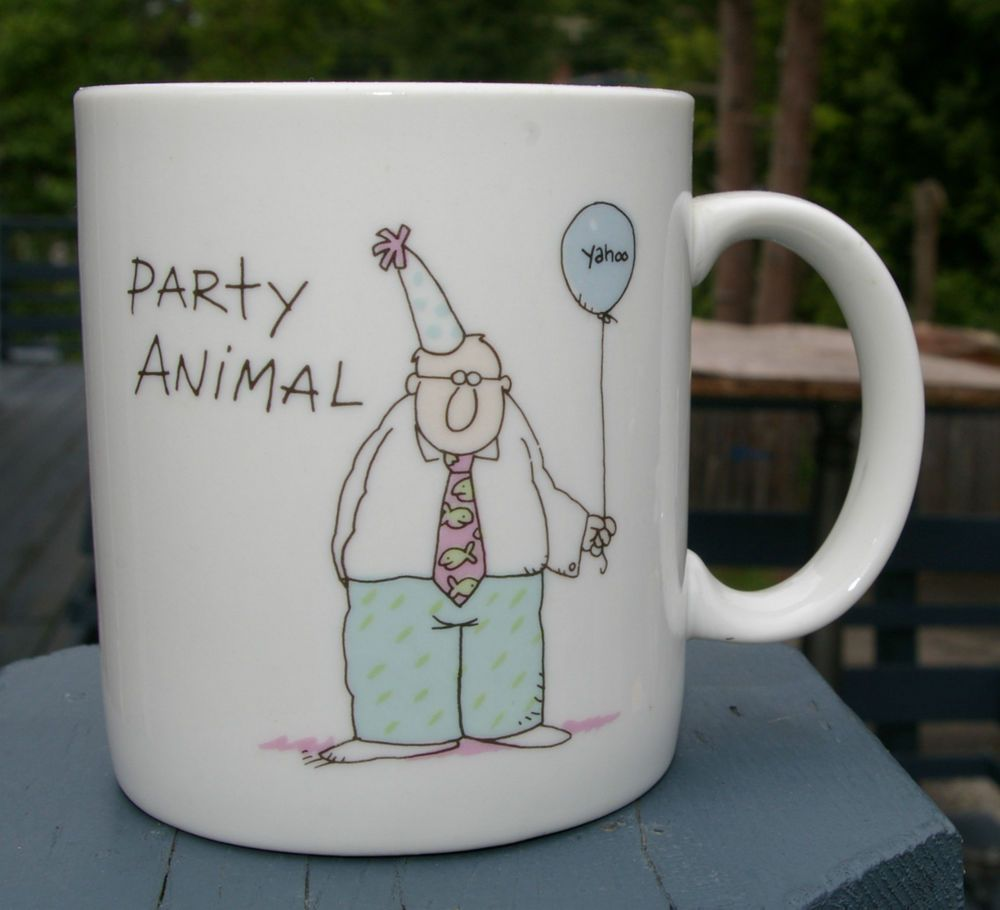 Details about party animal coffee funny mug yahoo over the