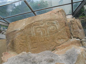 Rock carving on Cheung Chau, 3000yearold rock carving