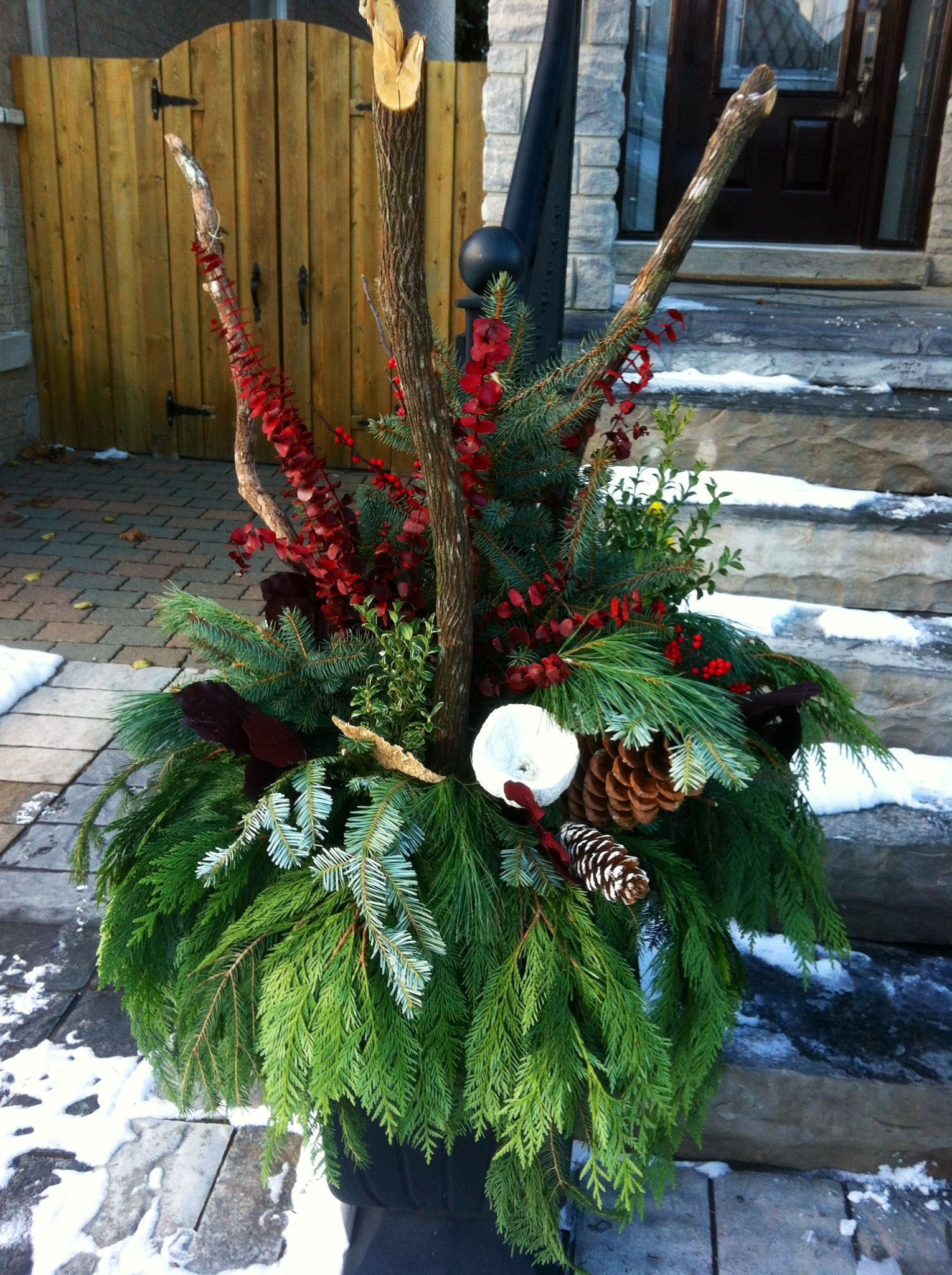 Winter outdoor arrangement Christmas