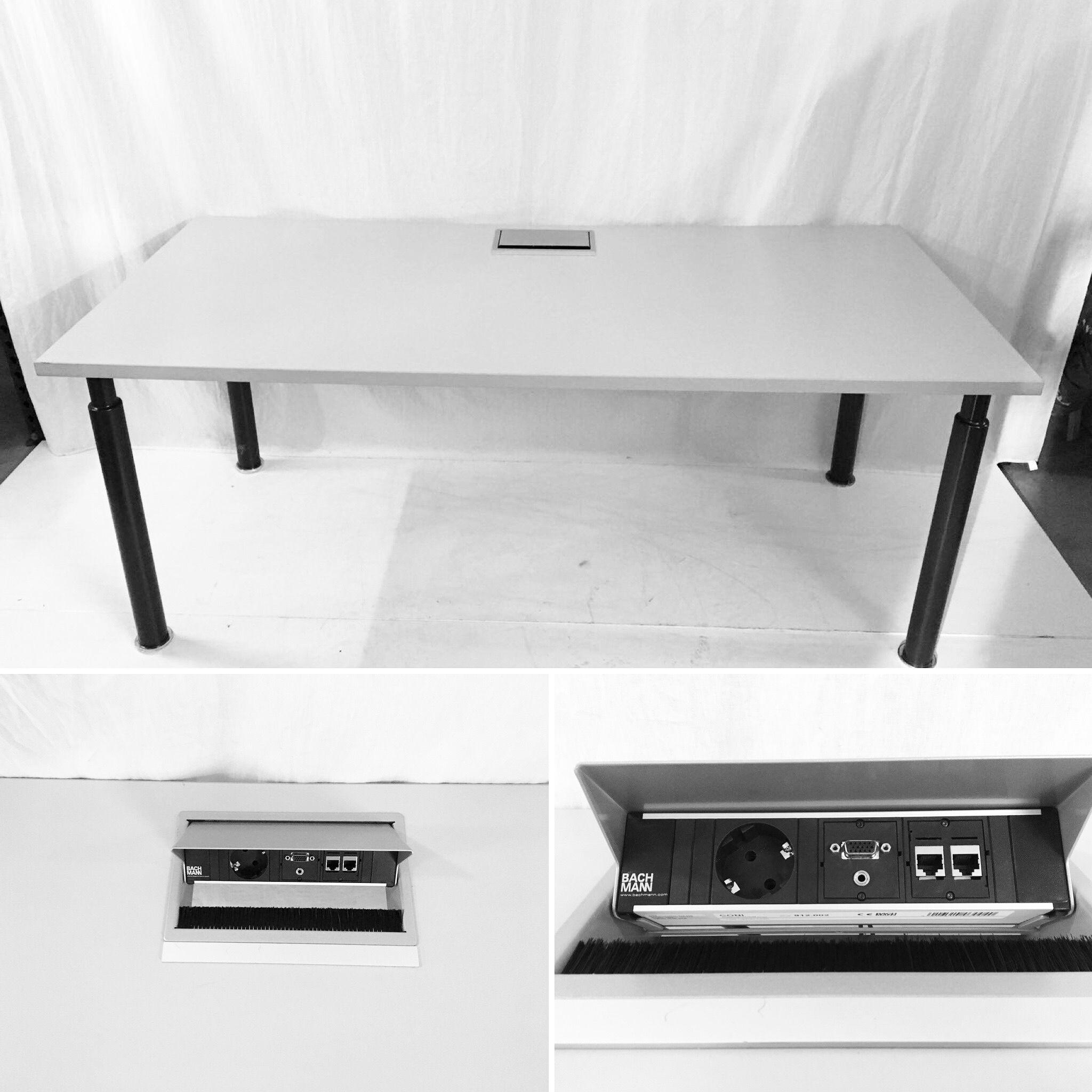 Mesa con pasa cables y conexiones oculto. #oferta 70€ #medidas ...
