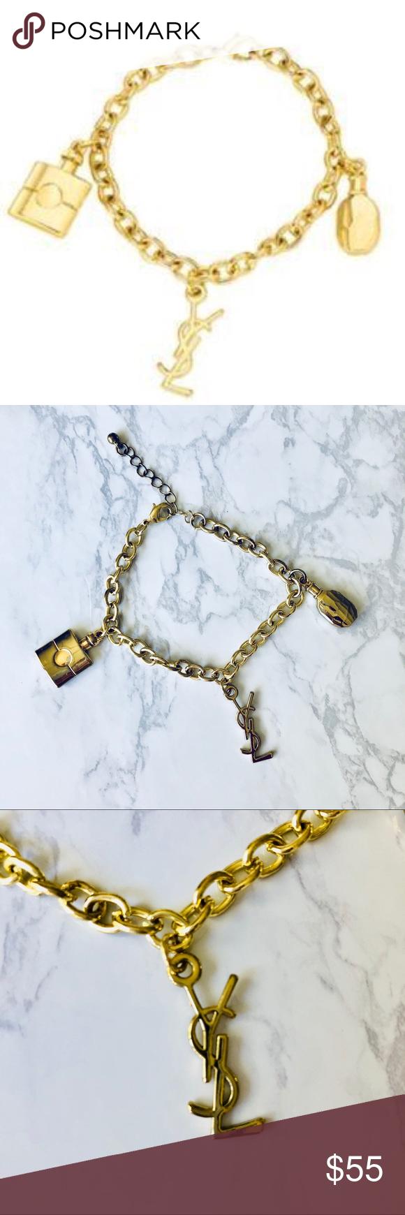 YSL Limited Edition Gold Charm Bracelet My Posh Picks Pinterest