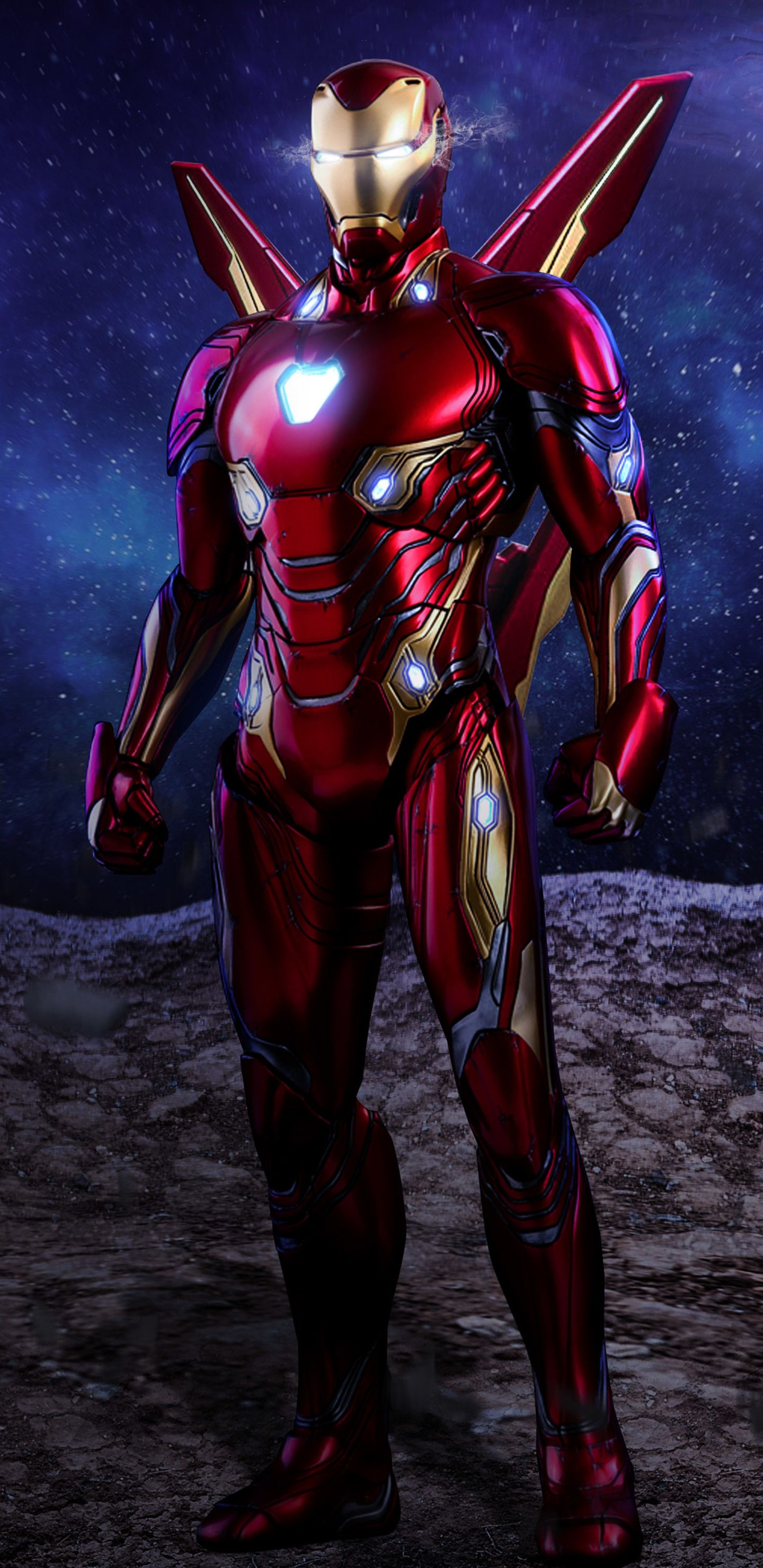 1440x2960 Iron Man Avengers Infinity War Suit Artwork Samsung