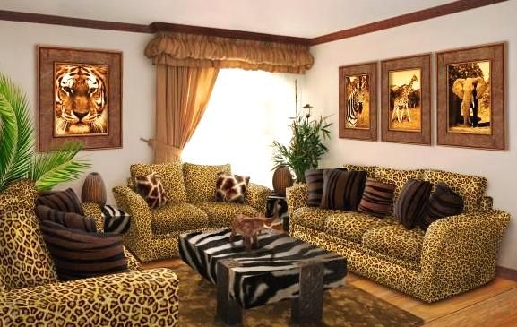 cheetah themed rooms african themed living room2