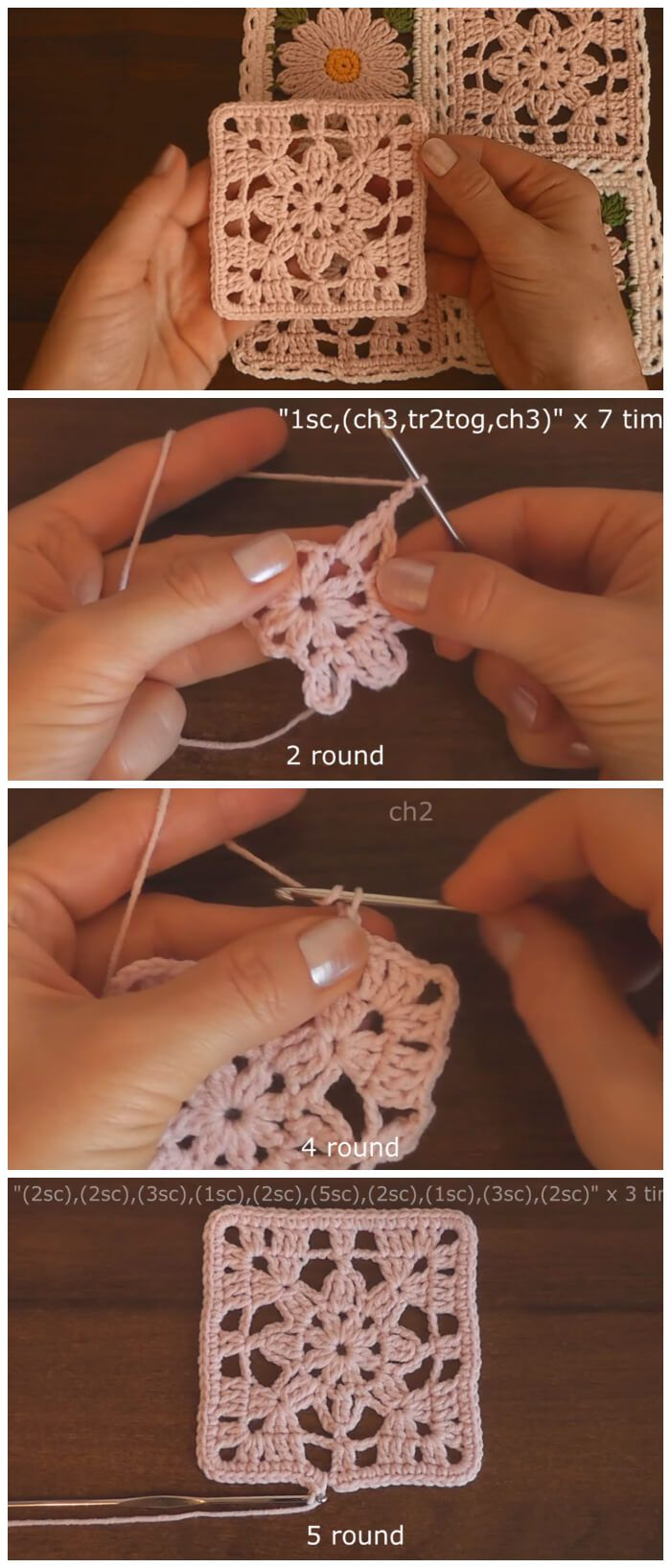 Crochet Granny Square Lace Motif