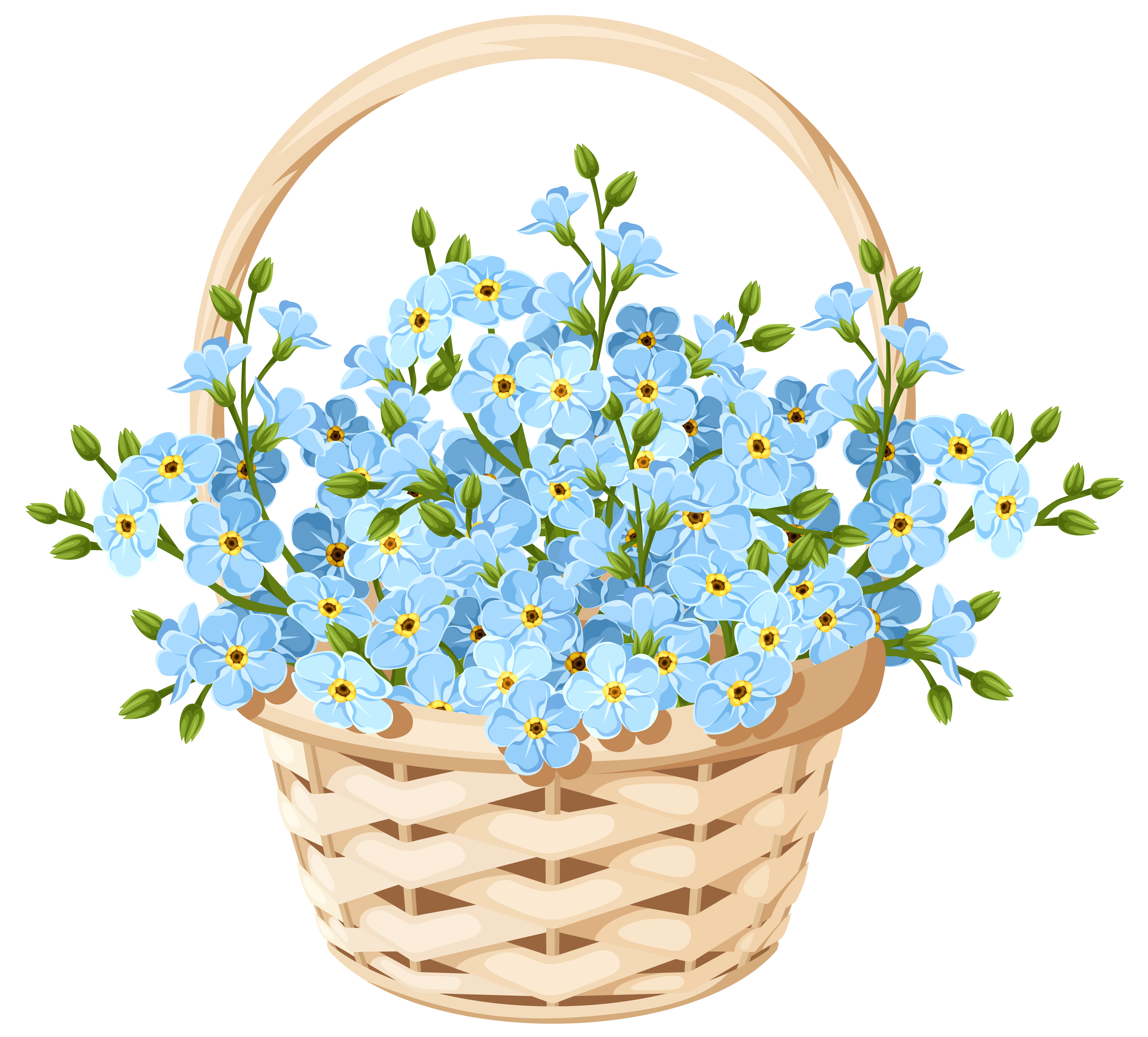 Clip art by Susan KleinEngel Flower basket