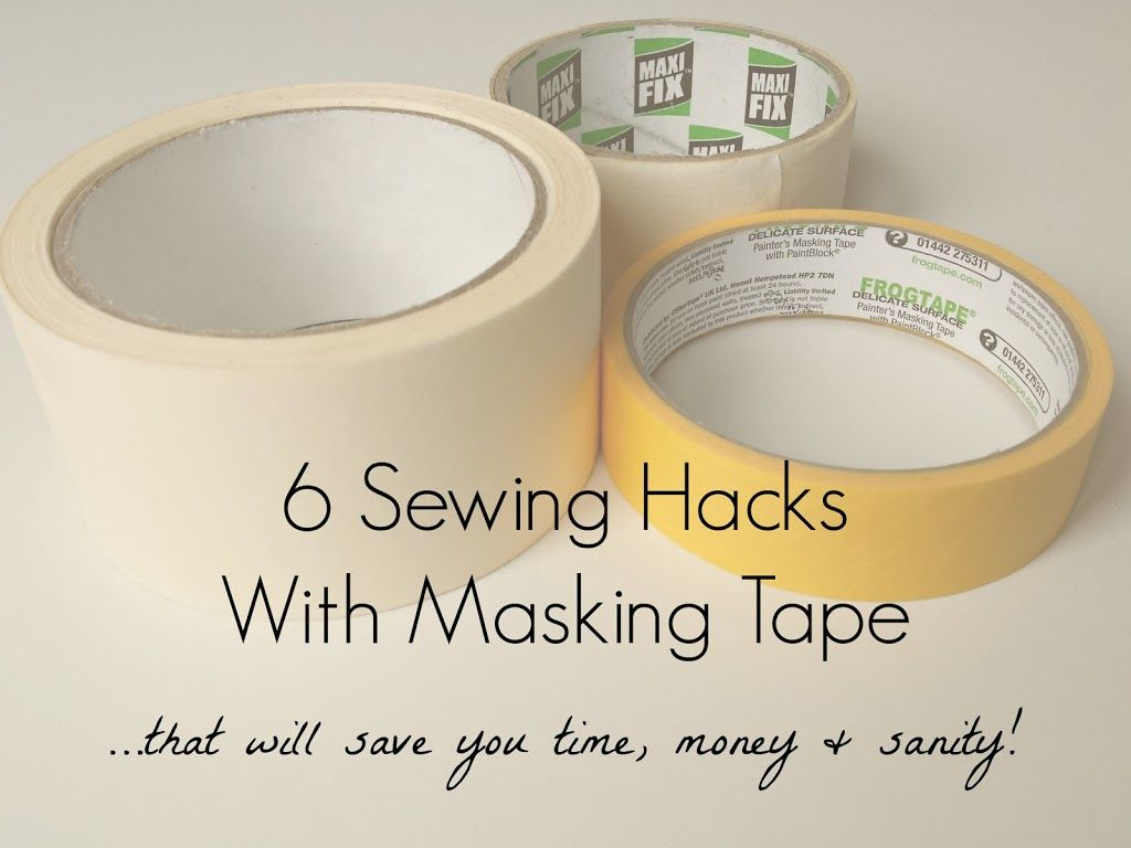 6 Sewing Hacks With Masking Tape | makery | Sewing | Pinterest ...