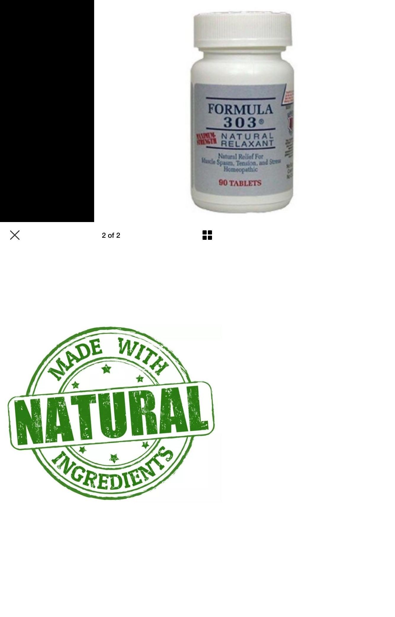 Formula 303 90 tablets bottle free shipping NEW by Dee Cee Labs