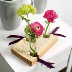 kreativ mit buchseiten dekoideen f r leseratten bastelarbeiten pinterest basteln basteln. Black Bedroom Furniture Sets. Home Design Ideas