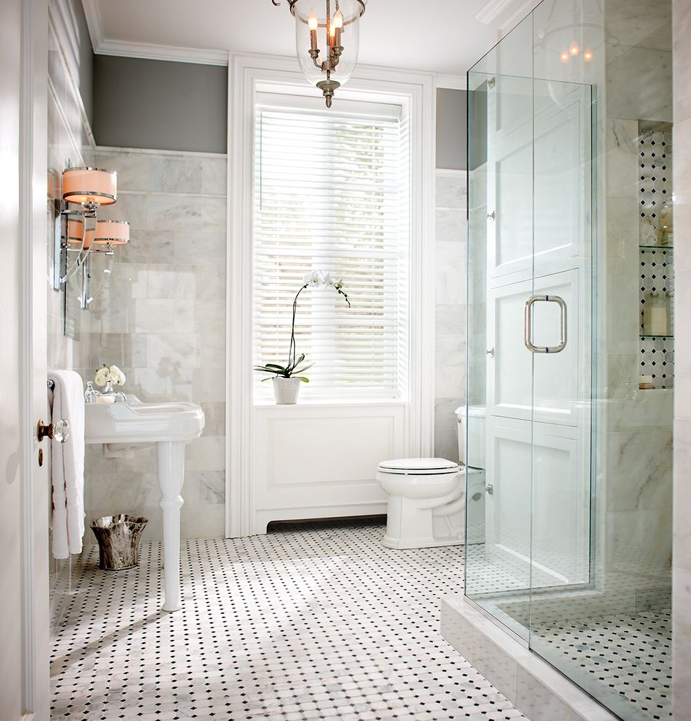 Lovely Marble Tile Bathroom Pictures