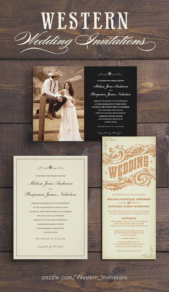 Photo Western Wedding Invitations - Photo & Rustic Style | Wedding ...