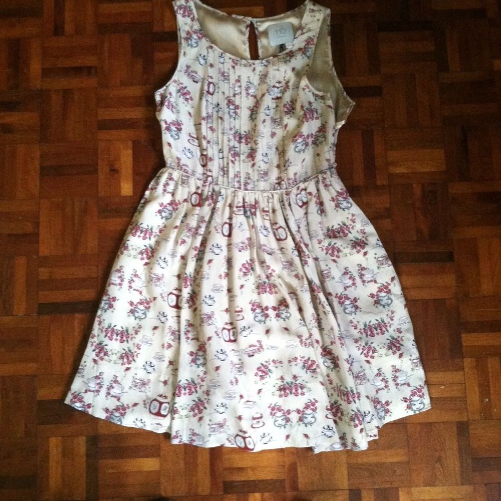 Floral silk dress anthropologie hd in paris size us m hdinparis
