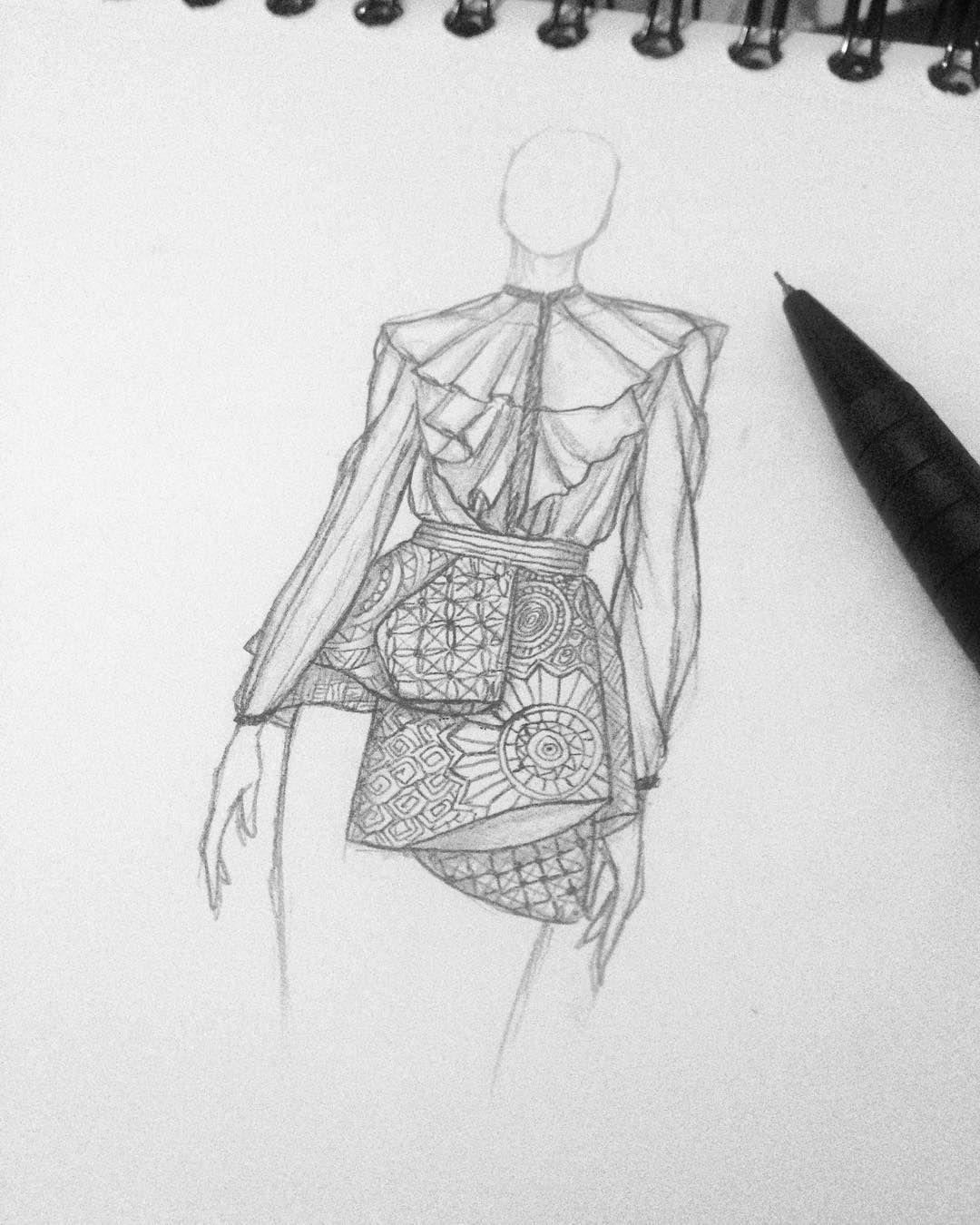 20+ Koleski Terbaru Sketch Batik Design Drawing