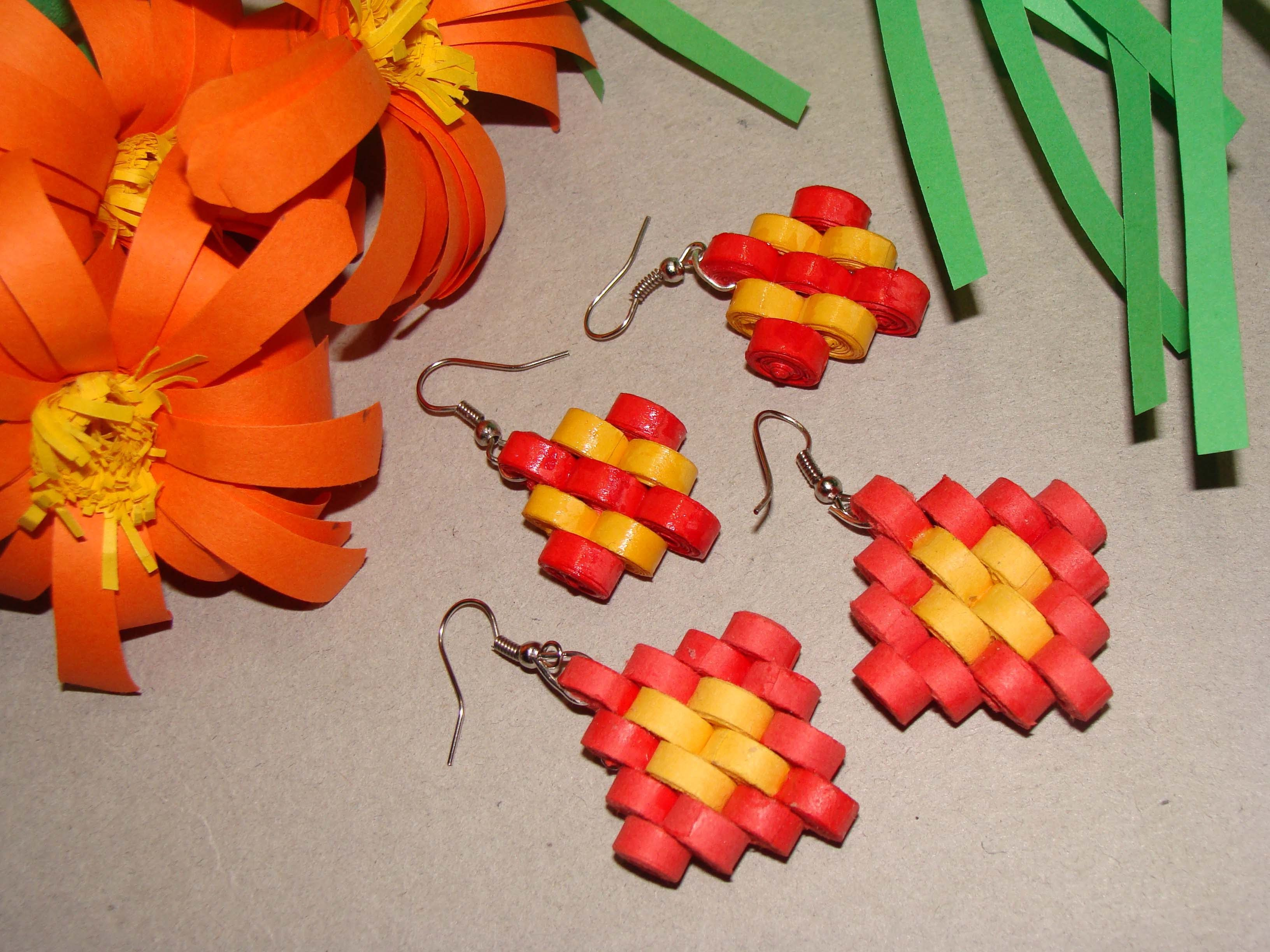 quilling earrings step design