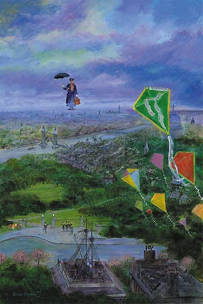 Mary Poppins - Let's Go Fly a Kite - Harrison Ellenshaw - World-Wide-Art.com