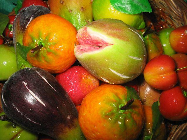 Marzipan fruit.