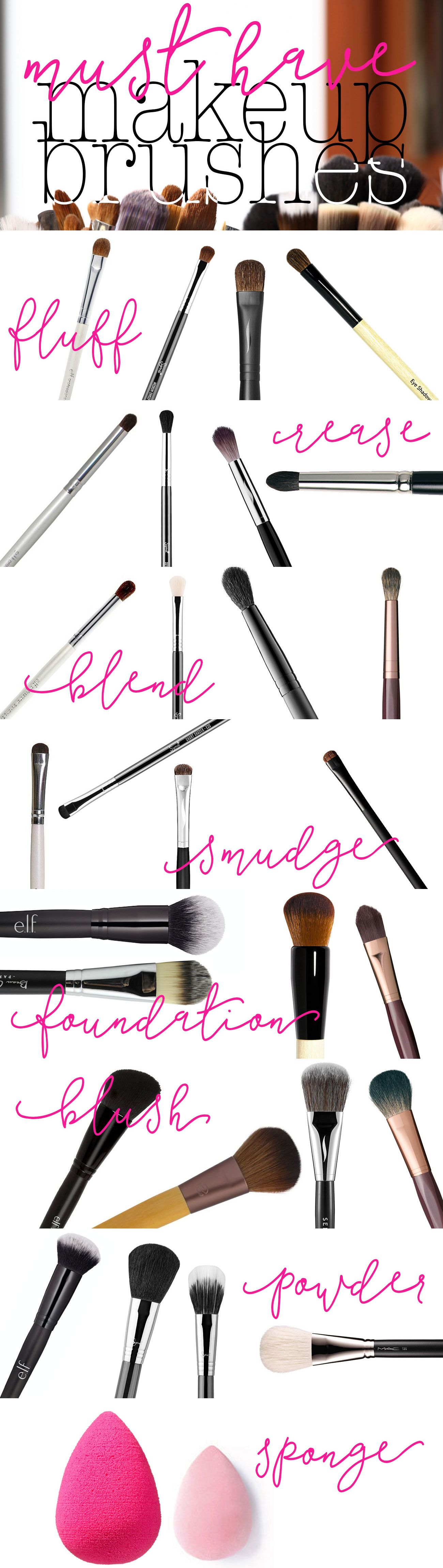 My Must Have Makeup Brushes 15 Minute Beauty Fanatic