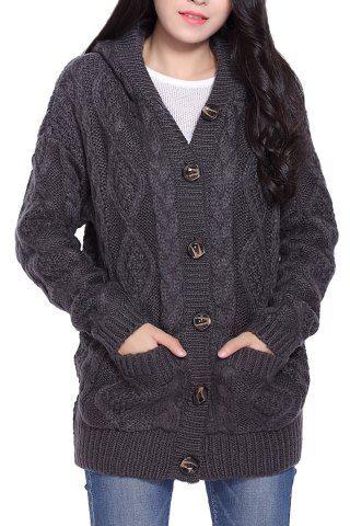 Stylish Collarless 3/4 Sleeve Loose-Fitting Laciness Women's ...