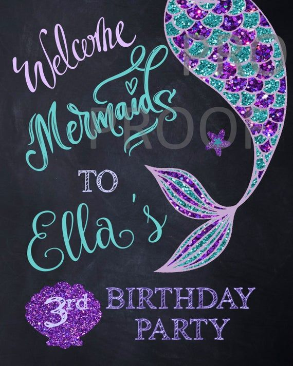 welcome Mermaids SIGN| Edit Yourself - Welcome mermaids party sign |Mermaid Decoration First  Birthd #mermaidsign