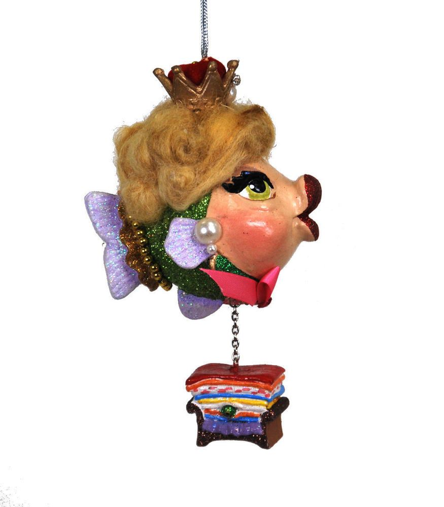 Kissing fish ornament - Katherine S Collection Kissing Fish Princess And Pea Kissing Fish