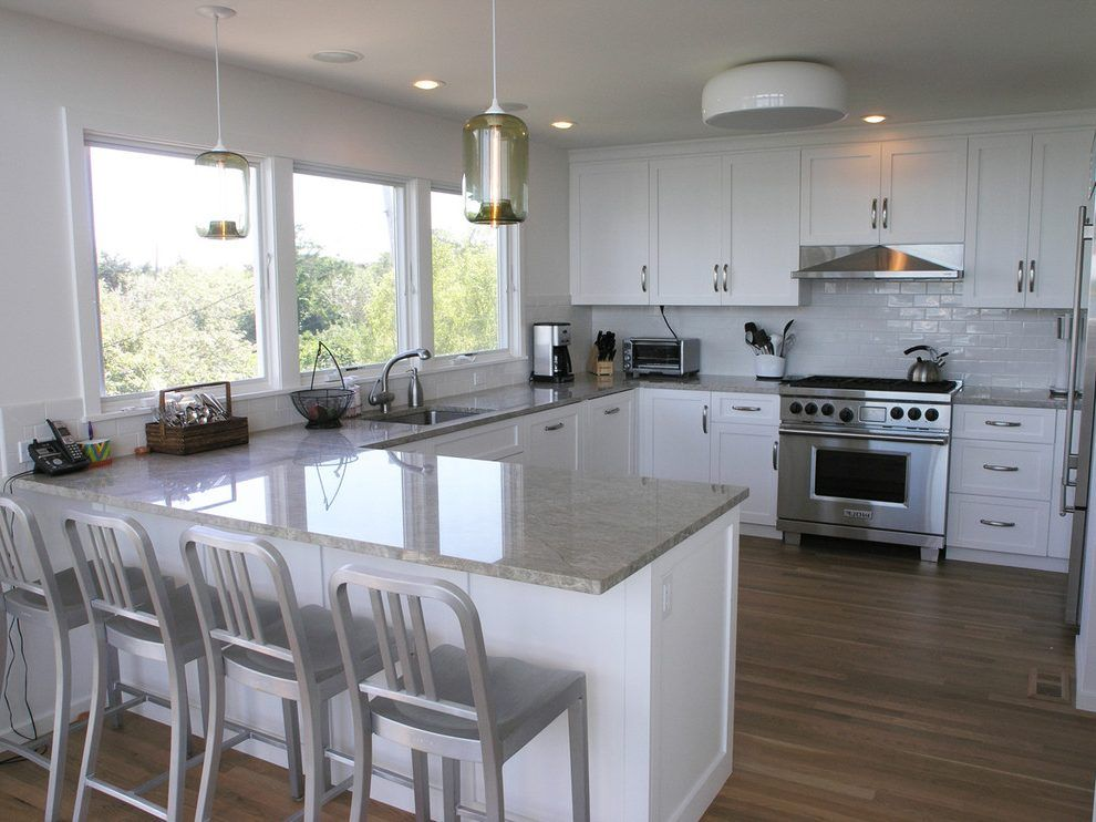 Image result for u shaped kitchen breakfast bar Small
