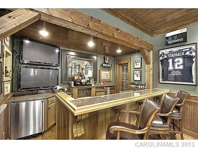 In Home Bar With Double Tv Screens Man Cave Kitchen Bar