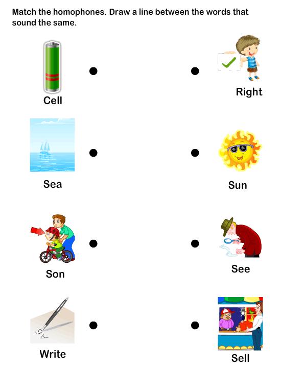 Homophone Word Worksheet6 Esl Efl Worksheets Kindergarten