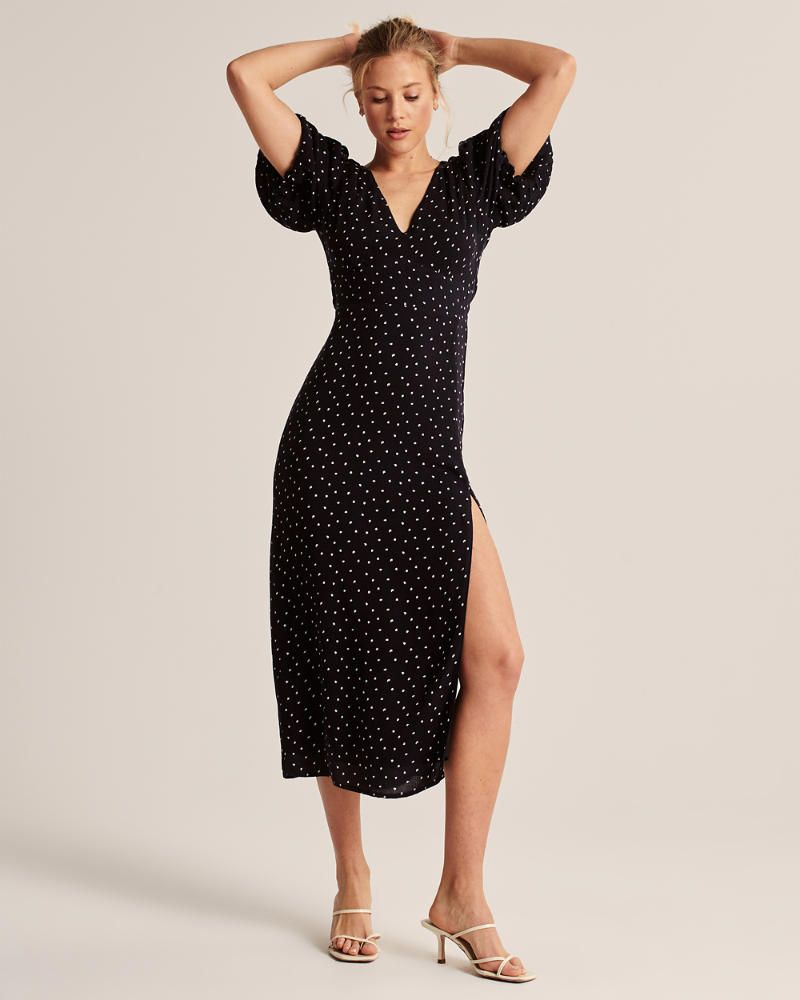 Womens Puff Sleeve Midi Dress Womens Dresses Jumpsuits Abercrombie Com Midi Dress With Sleeves Puff Sleeve Midi Dresses Womens Midi Dresses [ 1000 x 800 Pixel ]