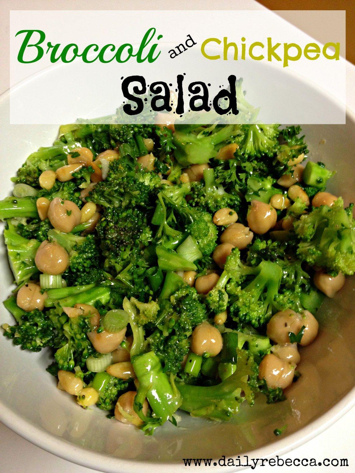 Broccoli Chickpea Salad Recipe Meals Pinterest Salad