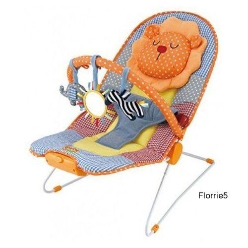 Vibrating Baby Bouncer Rocker Infant Sleeper Chair Toy Bar Activity Nap Safari