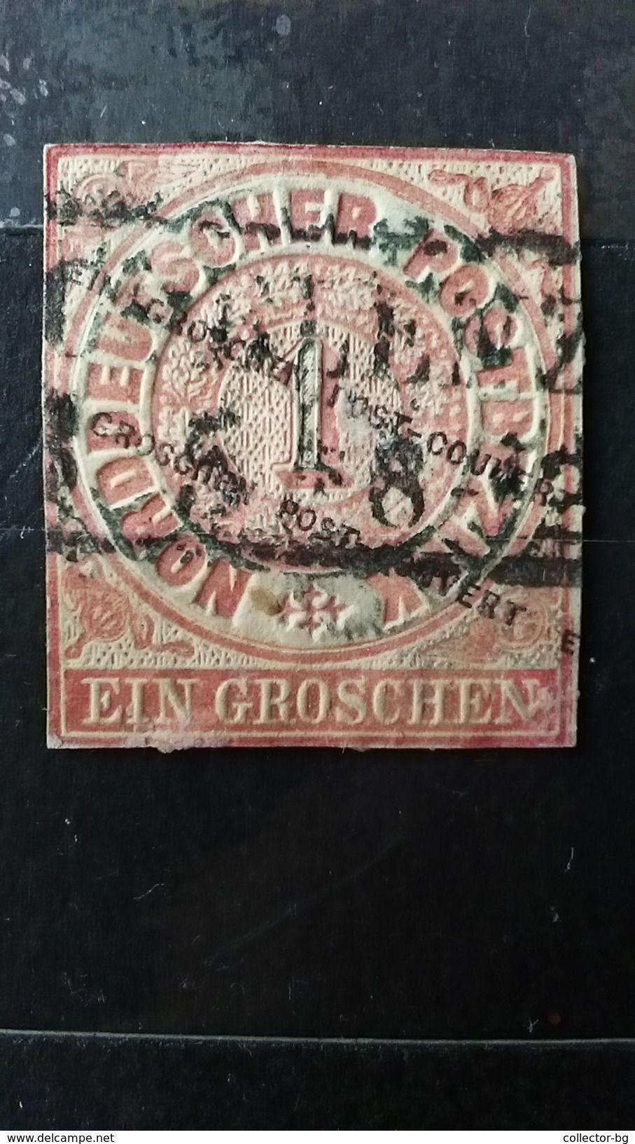 RRR 1 EIN GROSCHEN NORTH GERMAN STATE 1868 2 DIFFERET WMK