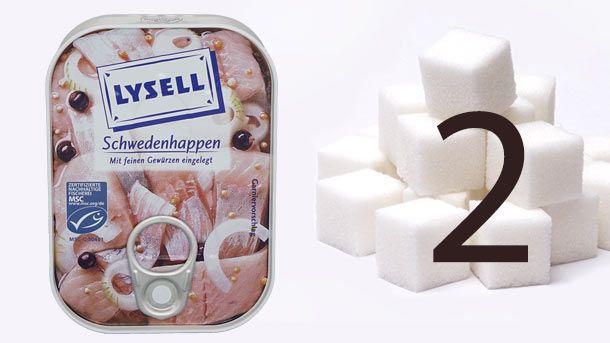 """""""Öko-Test"""", versteckter Zucker: Nach Analyse von """"Öko-Test"""" enthalten die """"Schwedenhappen"""" von Lysell mehr Zucker als Salz. (Quelle:"""