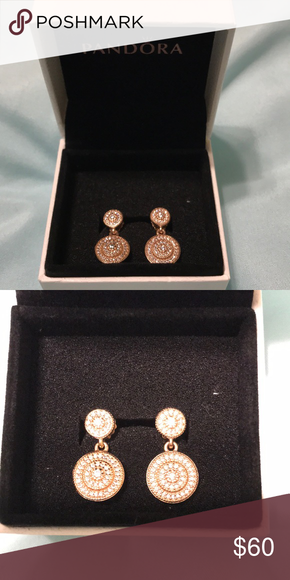 2ec8334ee Pandora Rose gold Radiant Elegance earrings Brand new Pandora Rose gold Radiant  Elegance drop earrings. Beautiful earrings to add to your collection!