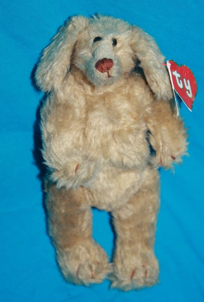 37544ad2a5b Vintage Ty Beanie Baby Attic Murphy Dog Brown Plush 1st Gen Tush 2nd Gen  Hang Tag 1992. He is naked