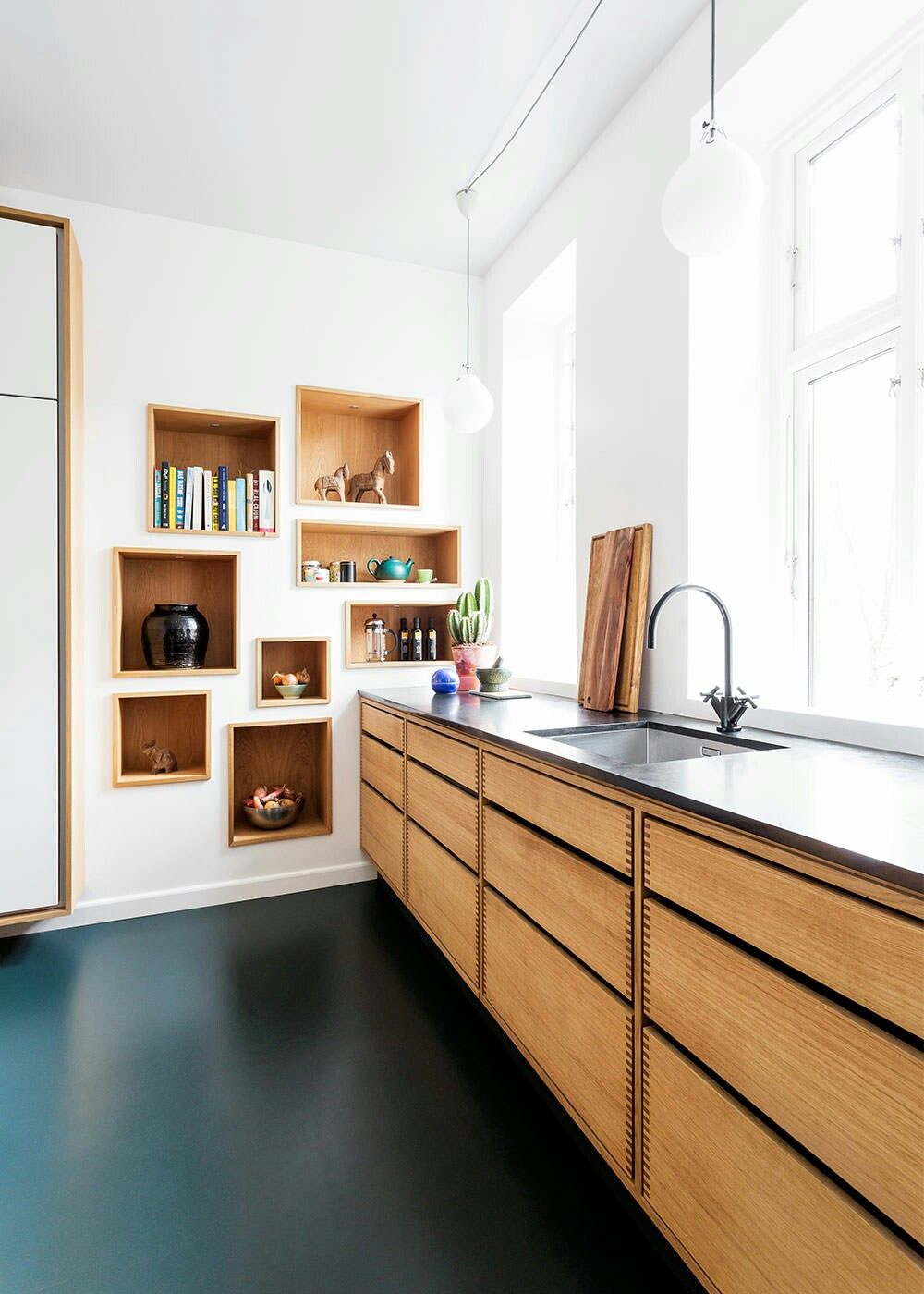 Beautiful Scandinavian kitchen from Garde Hvalsoe in Danish Oak with ...