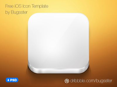Free iOS Icon Template (PSD)   Ios icon, Icons and Template