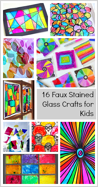 how to make stained glass craft