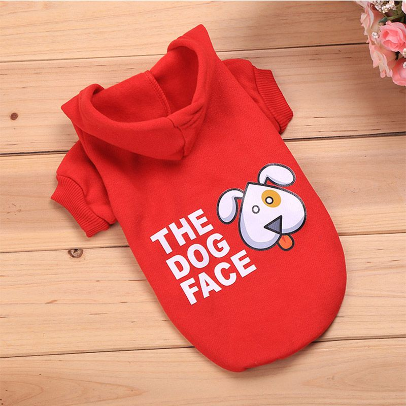 FameBeaut 5 Colors Dog Clothes The Dog Face Dog Hoodie