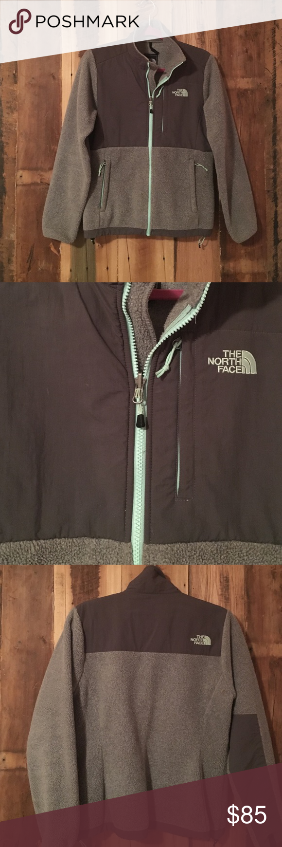 Great condition Denali north face jacket Mint green zipper, worn a handful of times. Very cute jacket! North Face Jackets & Coats