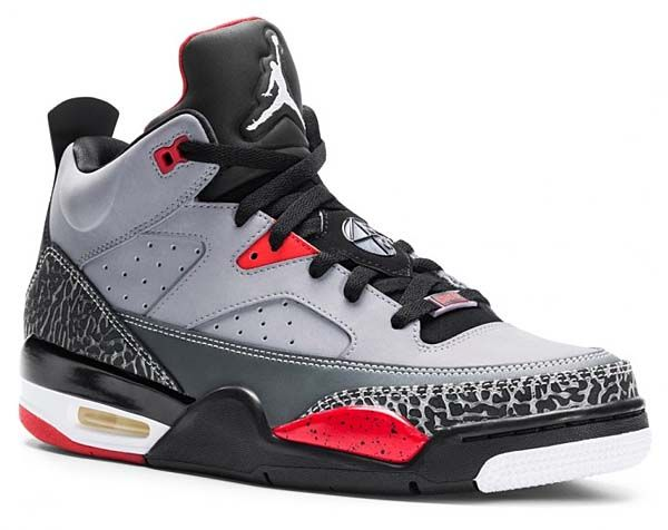 lowest price 59cb5 4f0e5 NIKE JORDAN SON OF LOW  CEMENT GREY BLACK-FIRE RED-WHITE  580603-004